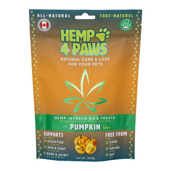 Hemp 4 Paws Hemp Infused Treats Pumpkin 250GM