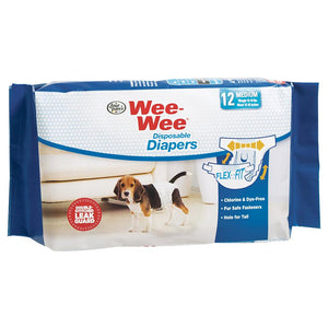 Wee-Wee Disposable Diapers Medium 12PK