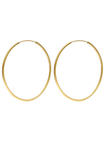 Load image into Gallery viewer, Hoop Earrings Large Gold brushed