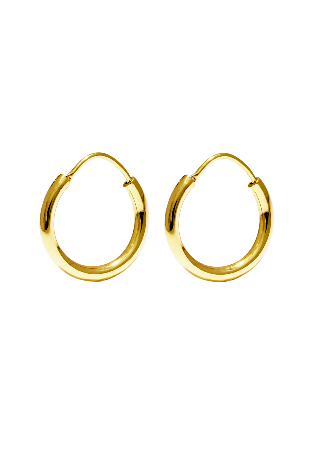 Hoop Earrings Small Gold shiny