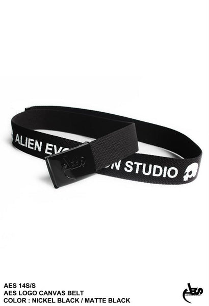AES Logo Canvas Belt