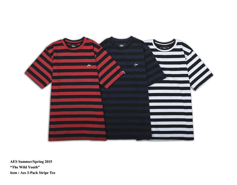 AES 3-pack Stripes Tee