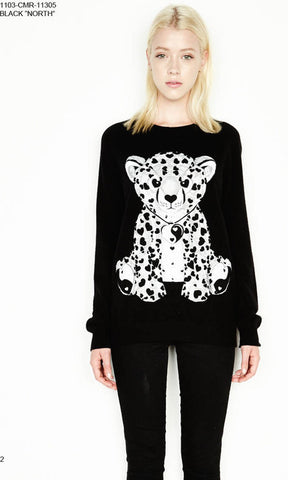 Lauren Moshi Black North Cashmere Black (Leopard)