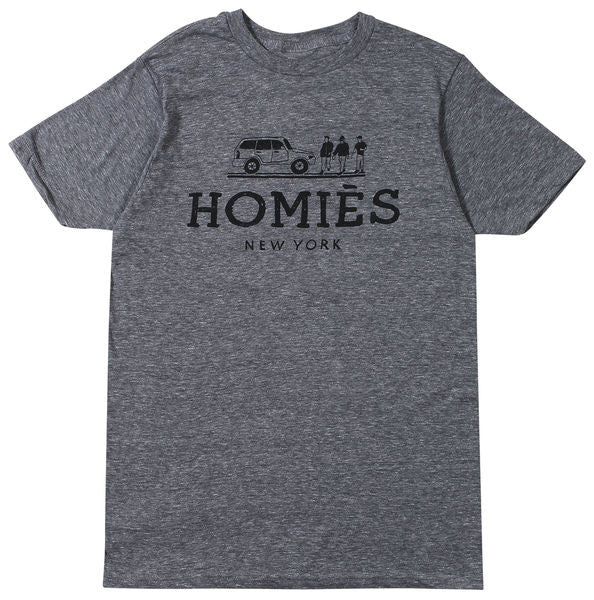 HOMIES NEW YORK TEE HEATHER GREY/BLACK