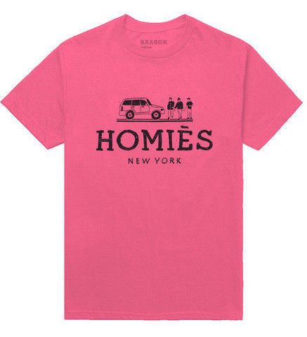 HOMIES NEW YORK TEE PINK