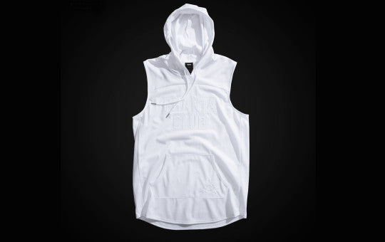 Phantaci Triple White Sleeveless Hoodie