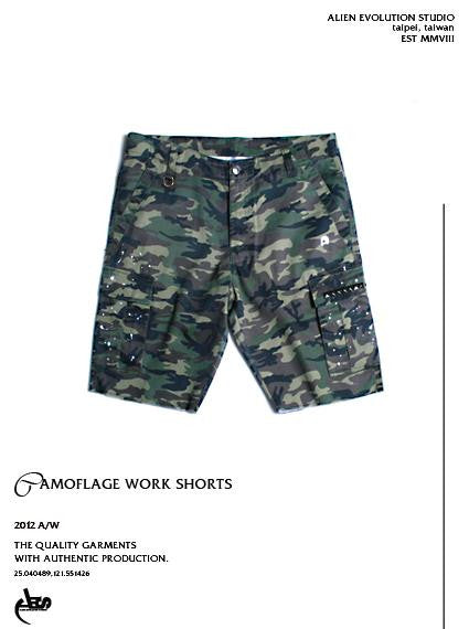 AES Camo Work Shorts