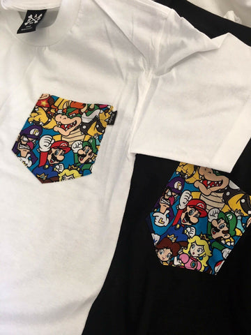 Radyo Mario Brother Pocket Tee