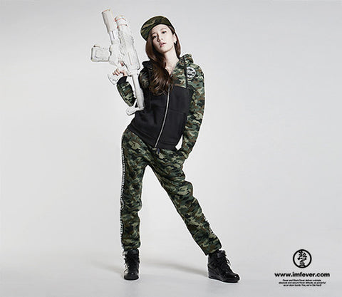 Black Fever Army Cotton Sweatpants