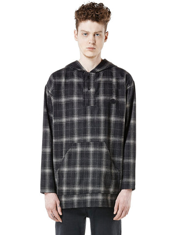 UNIF Plaid Hooded Poncho