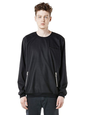 ZIPPED PULLOVER BLACK