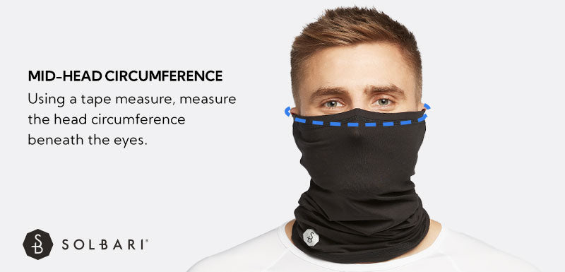 Face & neck Gaiter Size Guide
