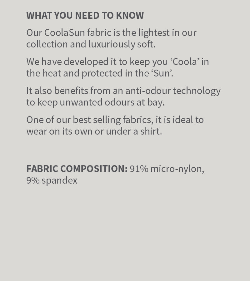 Solbari Coolasun Fabric Information