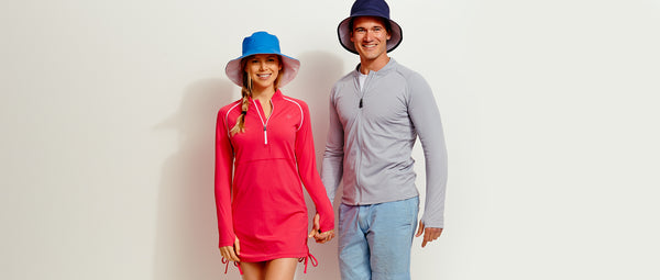 Solbari sun protective swimwear and sun hats