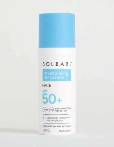 Solbari Moisturising SPF50+ Face Sunscreen, 50ml