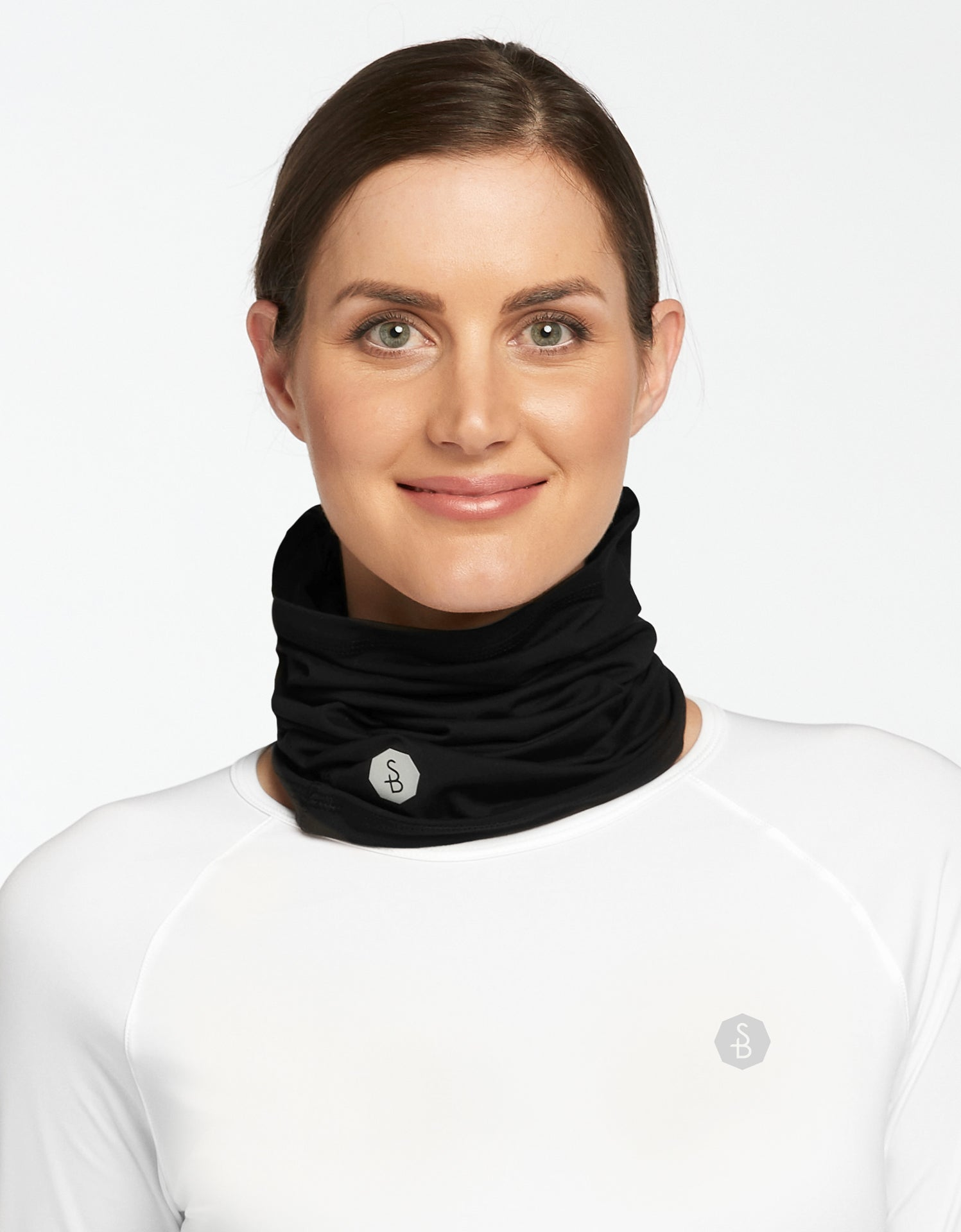 Solbari Sun Protection UPF50+ Face & Neck Gaiter Active Collection in Black