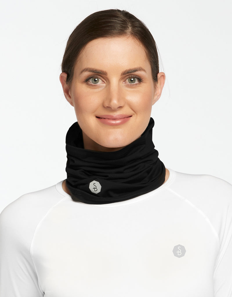 Solbari Sun Protection UPF50+ Face & Neck Gaiter Active Collection in Light Grey
