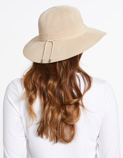 Solbari Sun Protection UPF50+ Women's Weekend Sun Hat in Beige