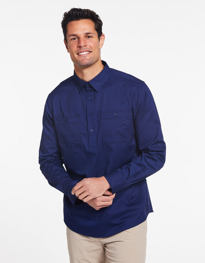 Outback Half Placket Shirt UPF50+ Technicool Collection