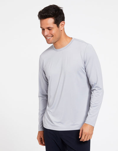Solbari Sun Protection Men's UPF50+ Long Sleeve T-Shirt Active Collection in Light Grey