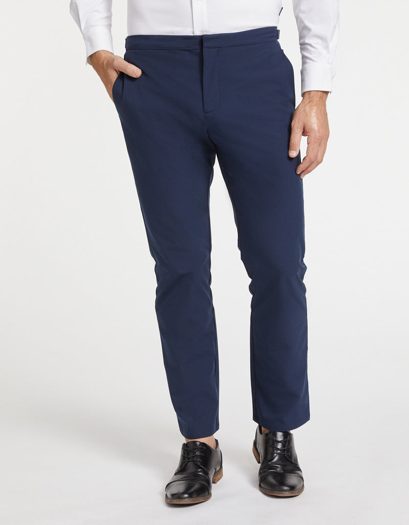 Solbari Sun Protection Men UPF50+ Navy Trousers Dry Stretch Collection