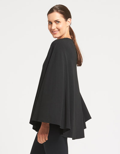 Solbari Sun Protection Clothing UPF50+ Protective Poncho in Black