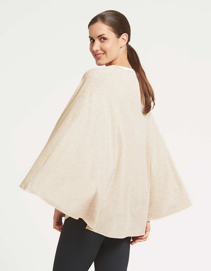 Solbari Sun Protection Clothing UPF50+ Protective Poncho in Oatmeal