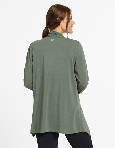Solbari Sun Protection UPF50+ Women's Sun Wrap Sensitive Collection in Eucalyptus Green