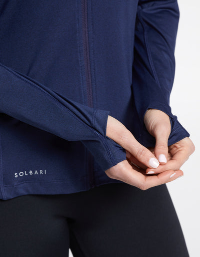 Solbari Sun Protection UPF50+ Women's Active Summer Essential Jacket in Dark Navy