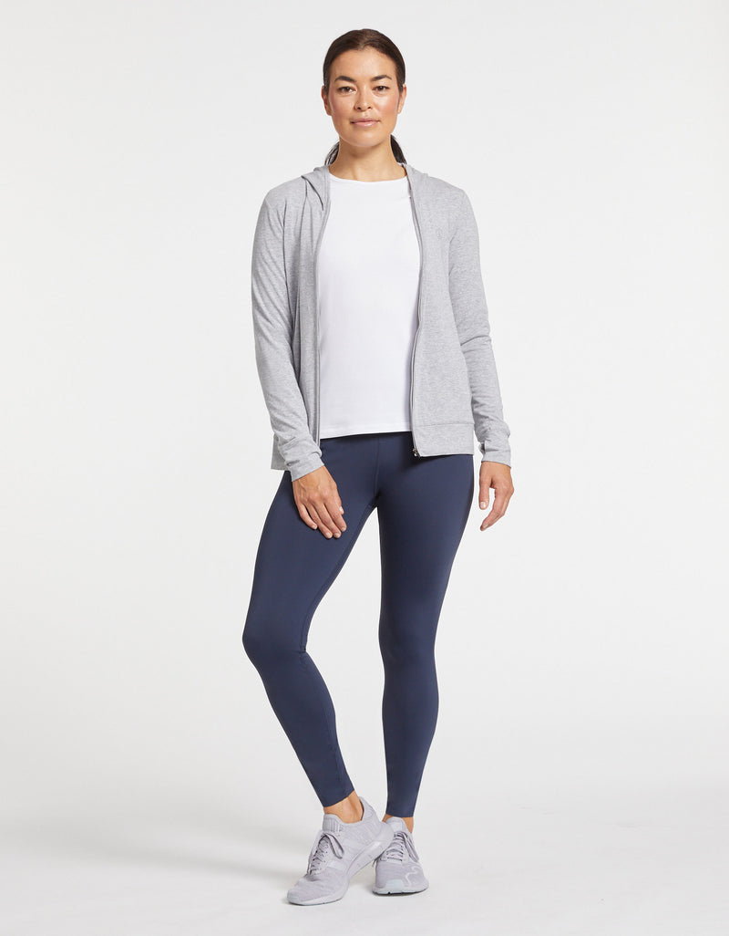 Solbari Sun Protection Women UPF50+ On The Move Essential Leggings in Navy Luxe Performance Collection