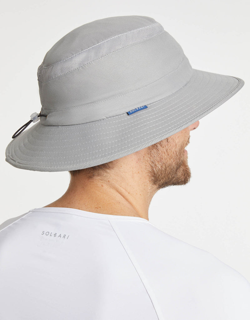 Solbari Sun Protection Men UPF50+ Everyday Broad Brim Sun Hat in Grey