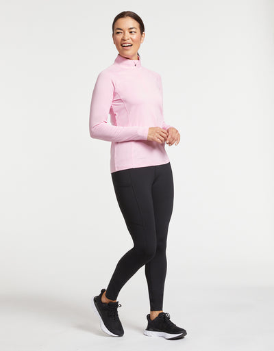 Solbari Sun Protection Women UPF50+ One The Move Essential Leggings With Pockets in Black Luxe Performance Collection
