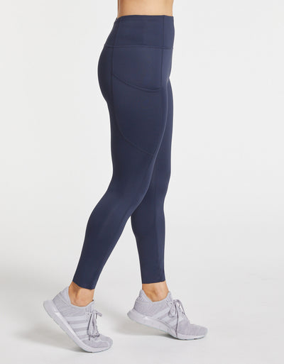 Solbari Sun Protection Women UPF50+ One The Move Essential Leggings With Pockets in Navy Luxe Performance Collection