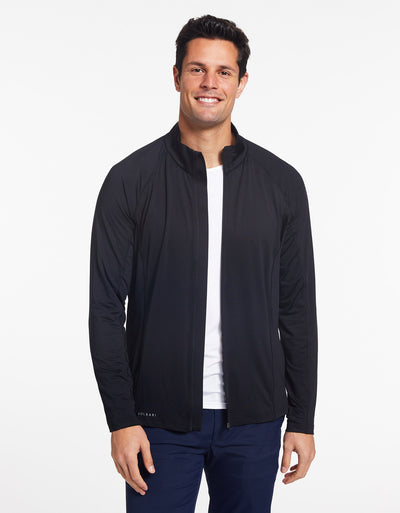Solbari Sun Protection Men's UPF50+ Active Summer Essential Jacket in Black