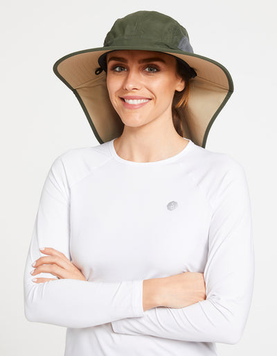 Solbari Sun Protection Women's UPF50+ Outback Sun Hat in Khaki