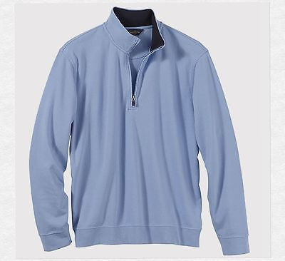 Brooks Brothers Men's Pique/Jersey Half-Zip Pullover Sweater BR7456