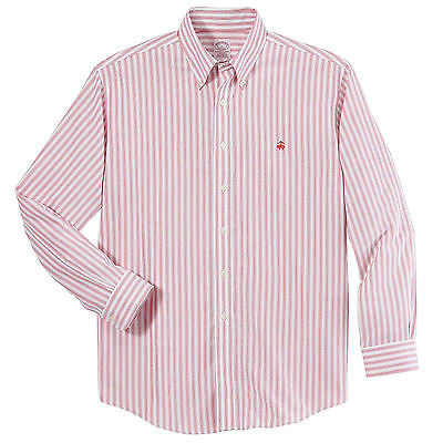 Brooks Brothers Men's Non-Iron Heritage Stripe Oxford Long Sleeve Shirt BR7333