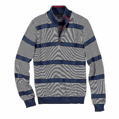 Brooks Brothers Men's Brushed Striped Half-Zip Pullover Sweater BR7457
