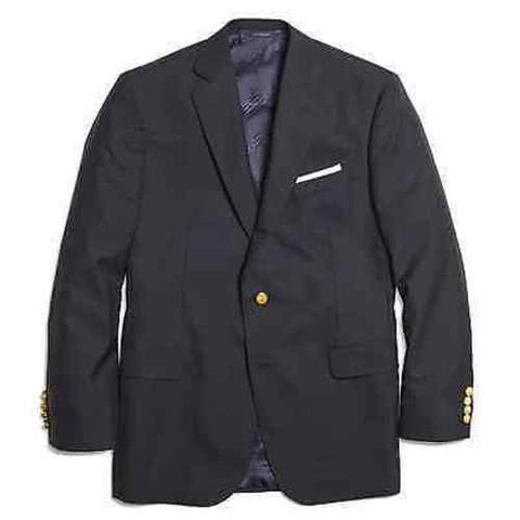 Brooks Brothers Men's Wool Madison Fit Navy Blazer Loro Piana Super 120's