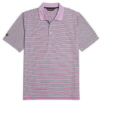 Brooks Brothers Men's Fine Stripe Short Sleeve Polo BR2113