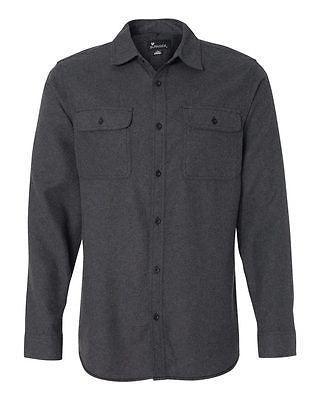 Burnside - Solid Long Sleeve Flannel Shirt - B8200
