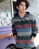 Burnside - Printed Striped Fleece Sweatshirt - B8603