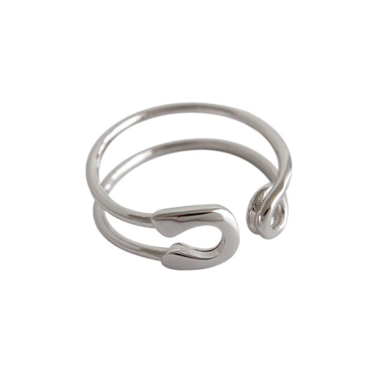 Bague Pandora à motif épingle en argent sterling