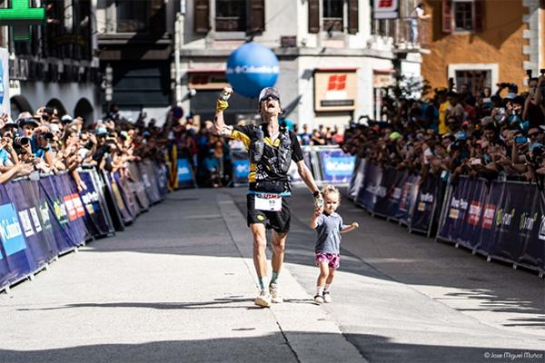 Scotty Hawker at the finish line in UTMB 2019