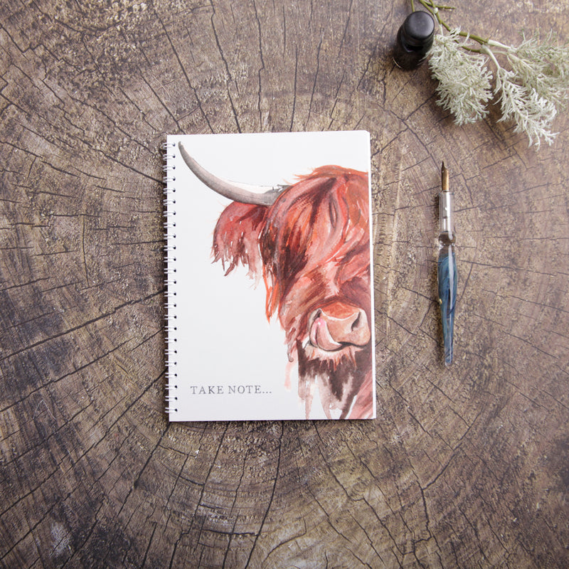 Take Note Highland Cow Design A5 Notebook