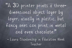 chocolate 3d printer chalkboard information