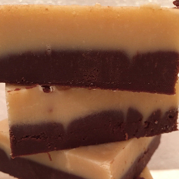 Dark and White Chocolate Fudge