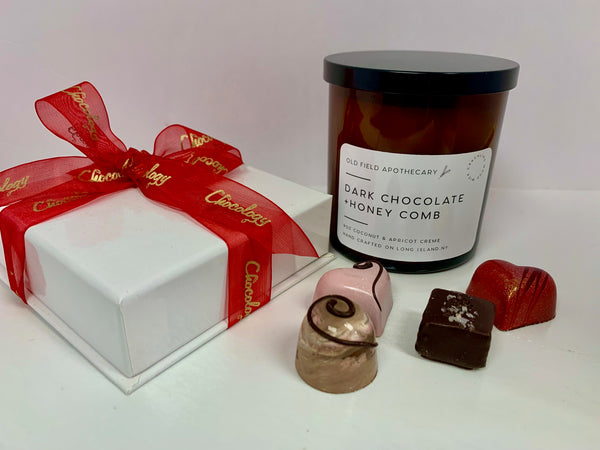 Chocology Chocolates + Dark Chocolate + Honey Comb Candle