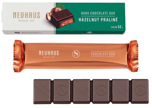 Neuhaus Dark Chocolate Hazelnut Praline Bar
