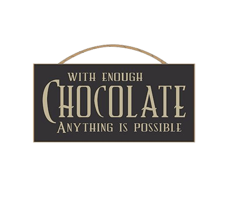 With Enough Chocolate Anything Is Possible Sign